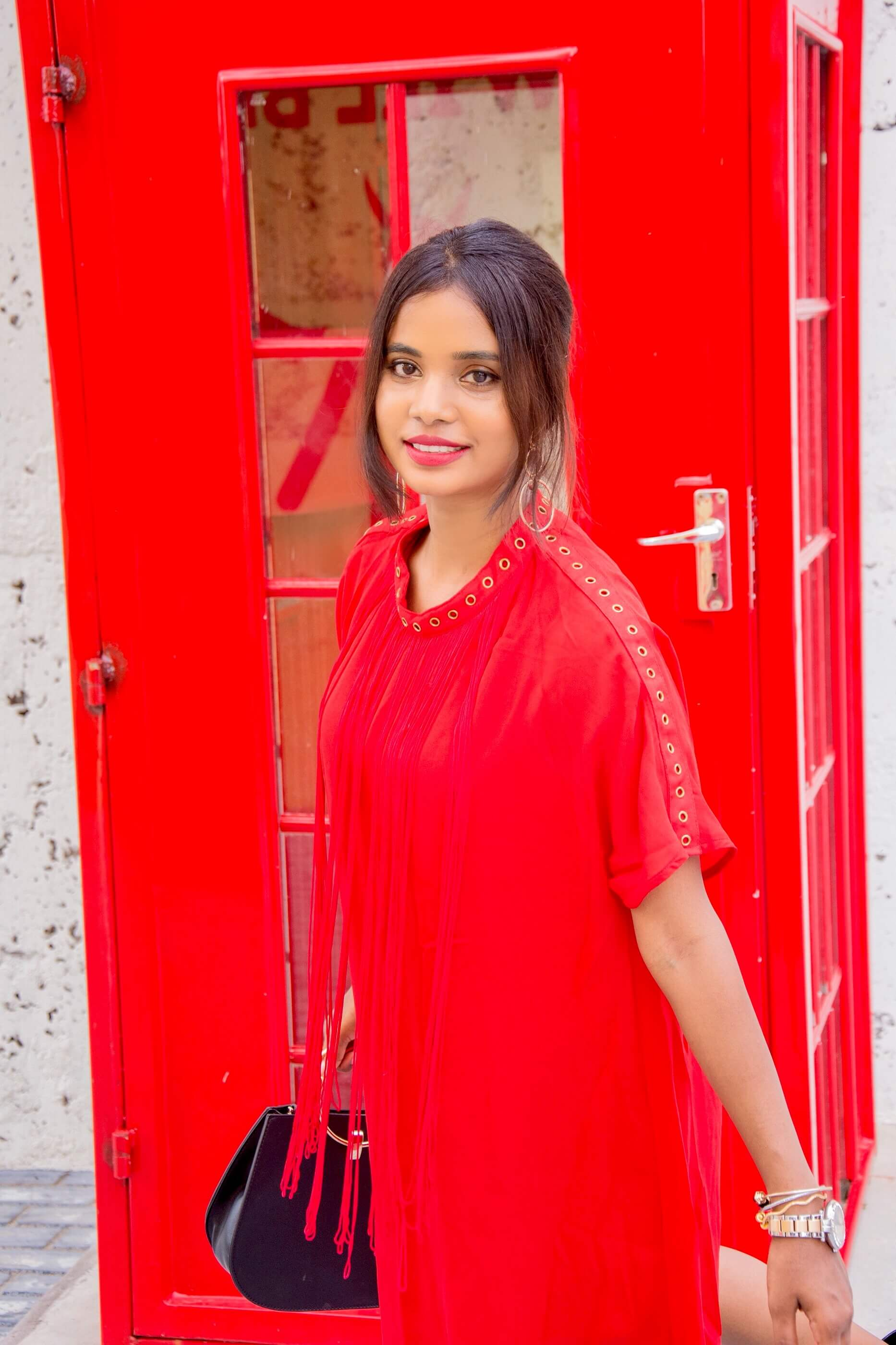 red fringed dress + life update