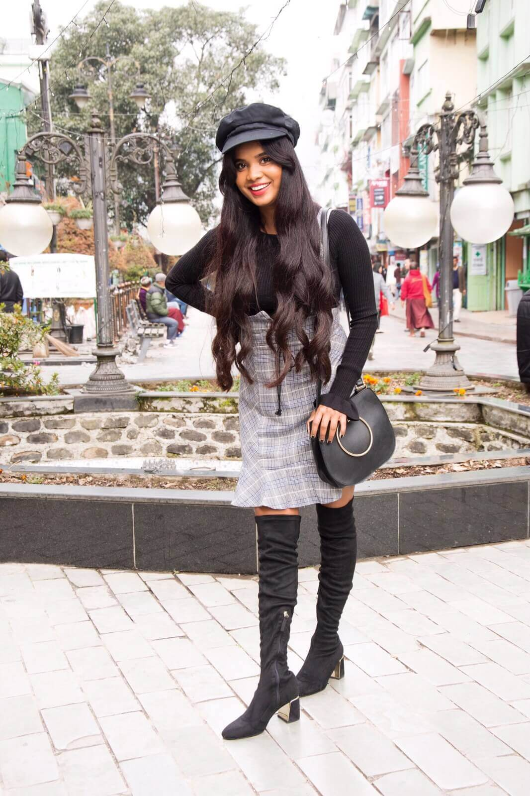 winter in plaid and ruffles