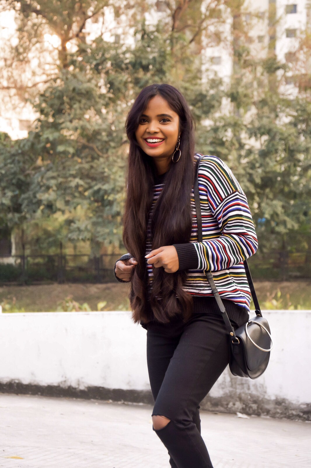 striped jumpers : 2 different styles with denims